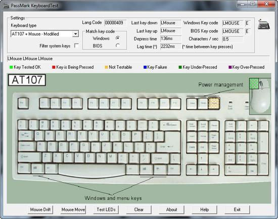 PassMark KeyboardTest