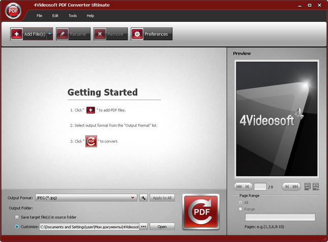 4Videosoft PDF Converter Ultimate 3.1 Overview